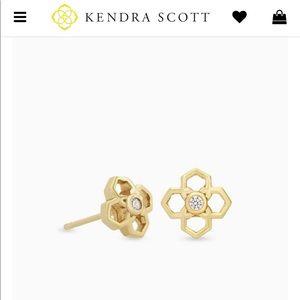 Kendra Scott Rue stud gold earrings